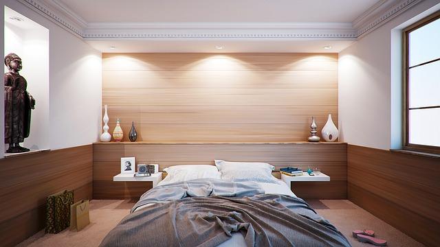luxusná štýlová spálňa